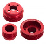 H22 Pinto Aluminium Pulley Set Red Without Tensioner