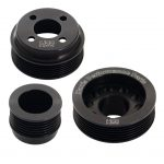 H22 Pinto Aluminium Pulley Set Black Without Tensioner