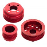 H22 Xflow Aluminium Pulley Set Red without Tensioner