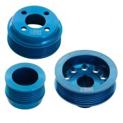 H22 Xflow Aluminium Pulley Set Blue Without Tensioner
